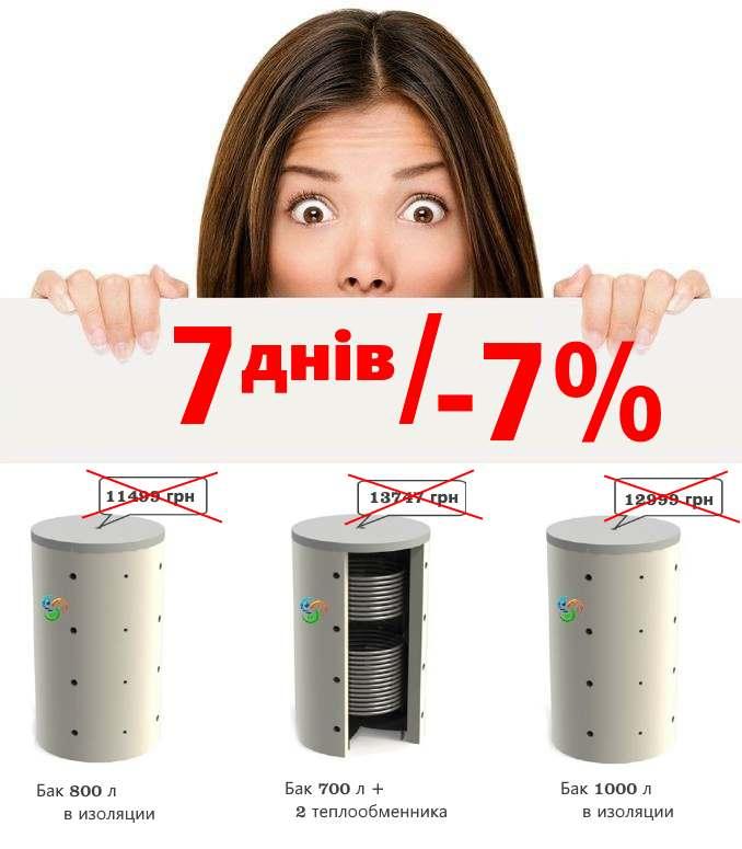 купить теплоаккумулятор київ, теплоаккумулятор для твердотопливного котла, теплоаккумулятор 1000, 500, 700 литров, тепловіннер, буферна ємність, Акумулюючі ємності